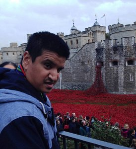 Manish at The Tower of London